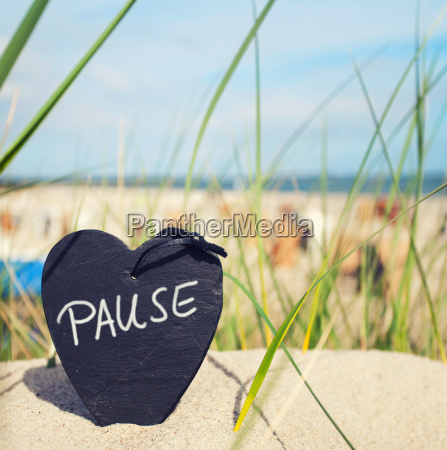 pause at the beach