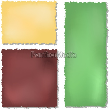 conjunto de color de los papeles