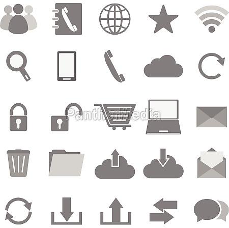 iconos de la comunicacion en el