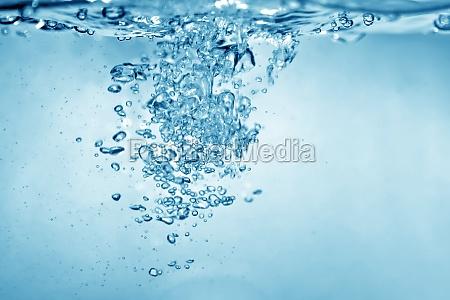 burbujas de agua de fondo