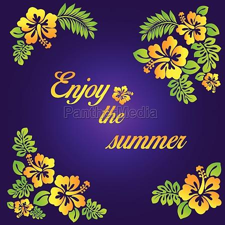 disfruta del verano ilustracion morada