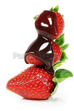 fresas con salsa de chocolate