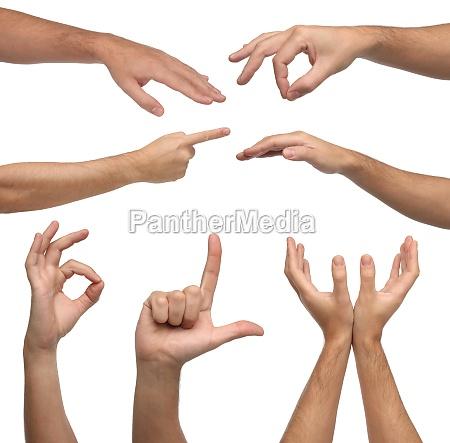 manos signo simbolo dedo conceptual cuerpo