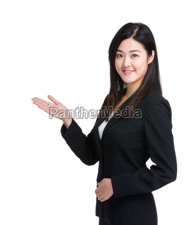 mujer de negocios de asia introducir