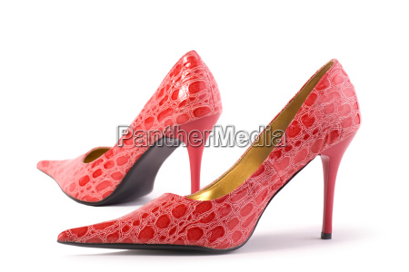 red high heels isolated on white