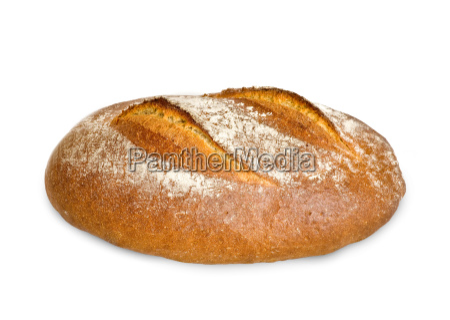 german farmhouse bread isolated on white