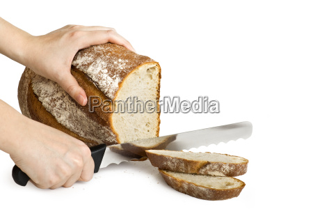 bread which is cut with a