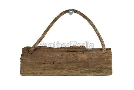 una tabla de madera vieja aislado