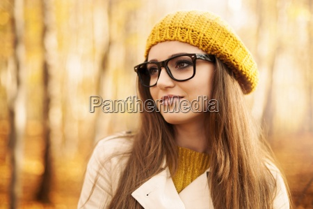 portrait of beautiful woman wearing fashion