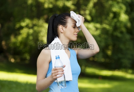 tired woman after jogging