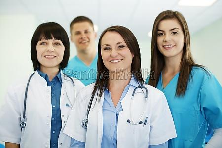 equipo medico exitoso