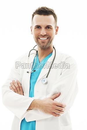 portrait of confident male doctor