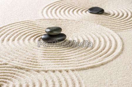 relajacion rocalla zen jardin zen arenas