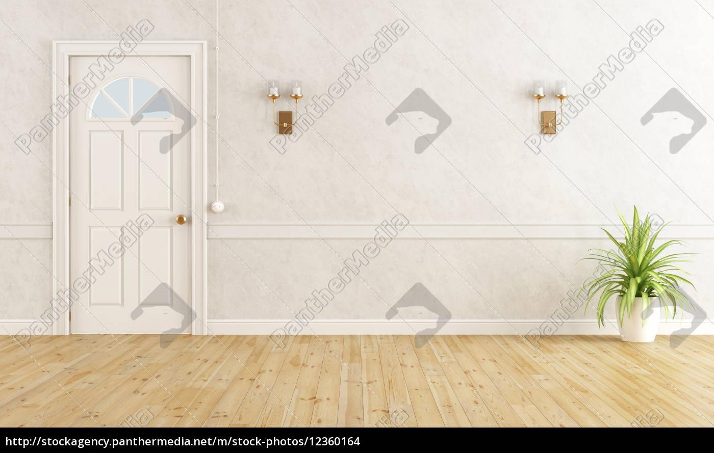 habitación, clásica, blanca - 12360164
