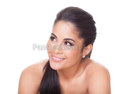 hermosa mujer sonriente