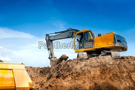 sitio de la construccion excavadora excavadora