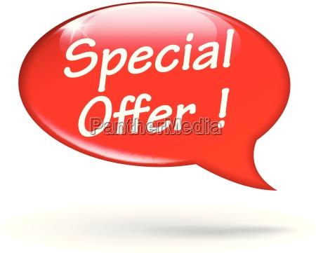 venta oferta icono especial fondo discurso