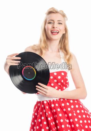 mujer con registros