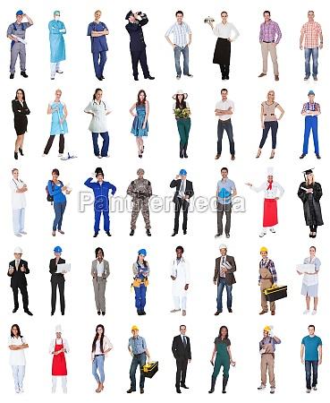 grupo de personas de diversas profesiones