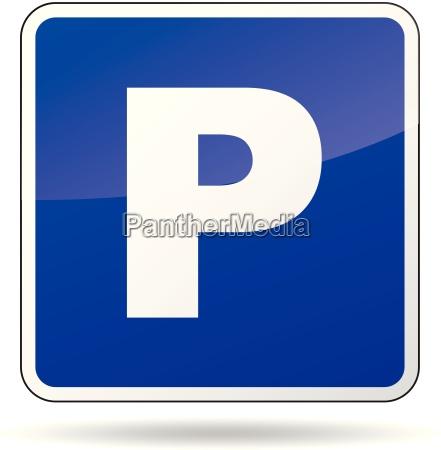 vector estacionamiento signo