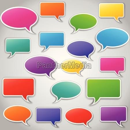 vector conjunto de burbujas de voz