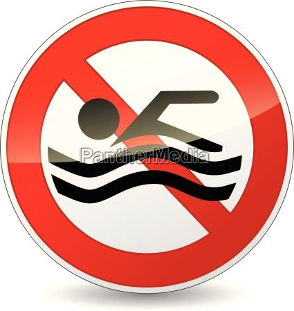 vector ninguna senyal de natacion
