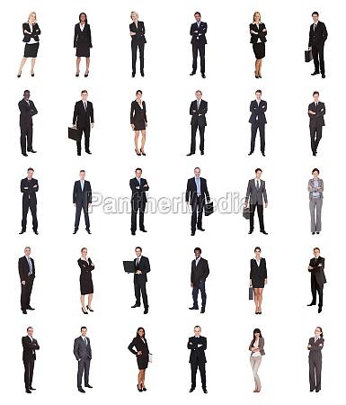 collage de empresarios diversos