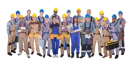 hombres de negocios empresarios grupo instalaciones