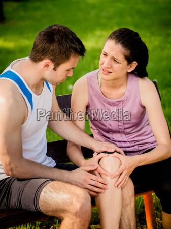 deporte rodilla lesionada