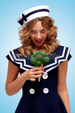 mujer comida hermoso bueno salud dulce