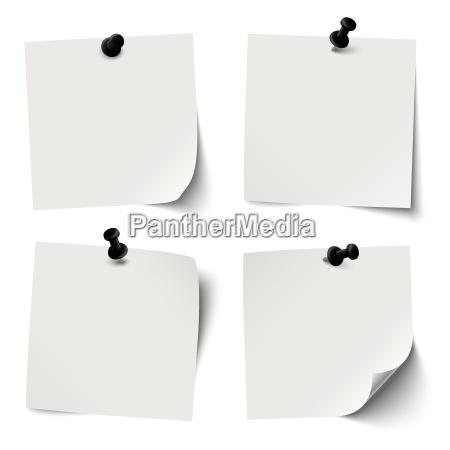 coleccion de papeles pegajosos coloreados con