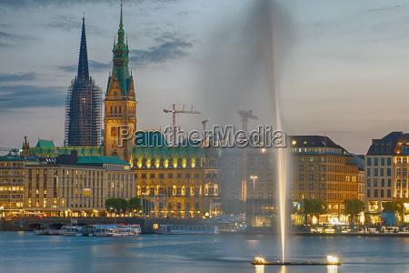centro de la ciudad de hamburgo