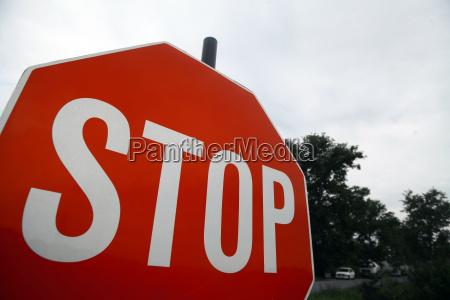 senyal de stop roja