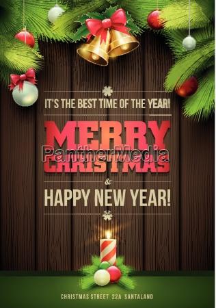 tarjeta de mensaje de navidad