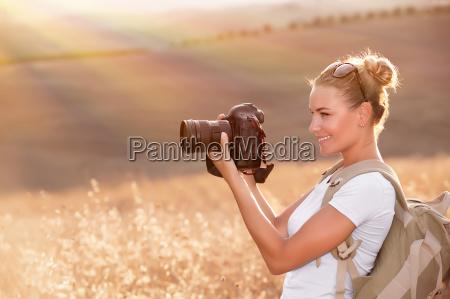 paseo viaje campo camara fotografo encantado