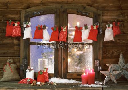 navidad sacks velas y estrellas en