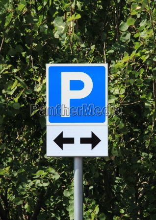 azul carta parque estacionamiento firmar pictograma