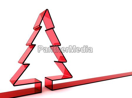 christmas tree 3d rendering