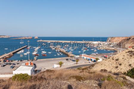 vista del puerto antiguo en sagres