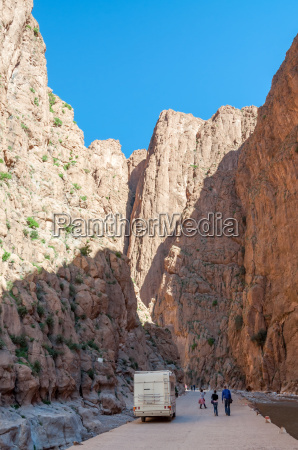 dades gorge in the atlas mountains