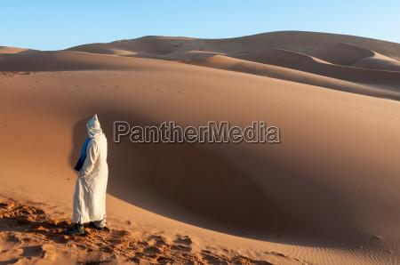 bedouin in the sahara desert morocco