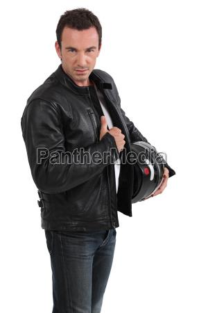 chaqueta de sujecion de motociclista
