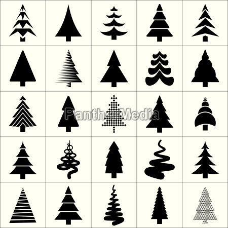 christmas tree silhouette design vector