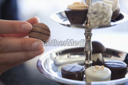 comida primer plano dulces plata baviera