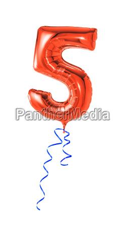 globo rojo con el regalo band