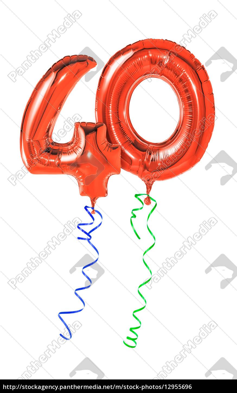 globos, rojos, con, cinta, de, regalo - 12955696