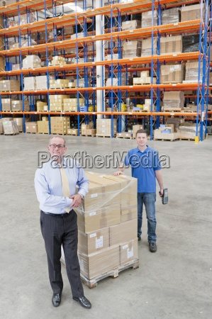 portrait of smiling supervisor and worker