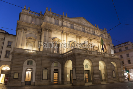 Opera la scala milan lombardia italia