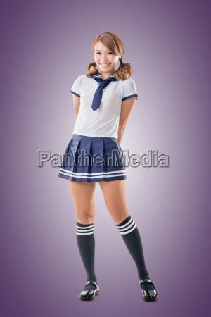 chica de escuela de estilo japones