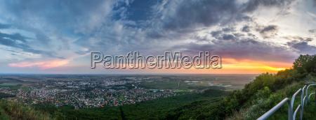 ciudad superior puesta del sol abendrot